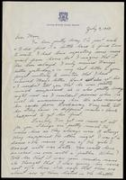 Letter from Felix Grant to his mother Mary Grant, July 9, 1943