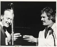 "Felix Grant and John Lyon at 20th Anniversary of ""The Album Sound"" at the Kennedy Center, Washington, D.C., 1974"