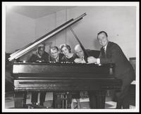 Keter Betts, Frank Albright, Ann Read, Charlie Byrd and Felix Grant, WMAL-TV, Washington, D.C., 1957