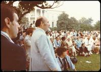 George Wein at a jazz concert at the White House on the occasion of the 25th Anniversary of the Newport Jazz Festival, Washington, D.C., June 18, 1978
