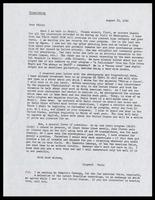 Letter from Paulo Santos to Felix Grant, August 22, 1960