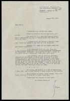 Letter from Sergio Mendes to Felix Grant, August 22, 1961