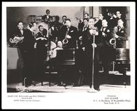 Group portrait of Mary Lou Williams, Pha Terrell and Andy Kirk and his orchestra