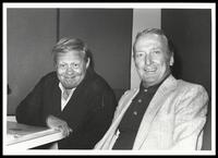 Mel Tormé and Felix Grant at WMAL AM 63 studio, Washington, DC, 1981