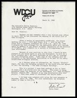 Letter from Felix Grant to Walter E. Fauntroy, March 31, 1989
