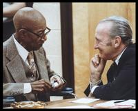 Eubie Blake and Felix Grant, Fort Myer, VA, 1980