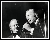 "Luiz Bonfá and Felix Grant at 20th Anniversary of ""The Album Sound"" at the Kennedy Center, Washington, D.C., 1974"