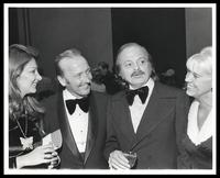 "Maria Toledo, Felix Grant, Luiz Bonfá  and June Grant at 20th Anniversary of ""The Album Sound"" at the Kennedy Center, Washington, D.C., 1974"