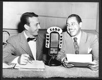 Felix Grant interviews Cab Calloway at radio station WWDC-AM 1450, Washington, D.C., 1948