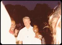 President Jimmy Carter and Leslie Uggams at a jazz concert at the White House on the occasion of the 25th Anniversary of the Newport Jazz Festival, Washington, D.C., June 18, 1978