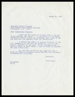 Letter from Felix Grant to Congressman Walter E. Fauntroy, August 22, 1986