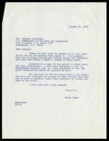 Letter from Felix Grant to Barbara Nicholson, August 22, 1986