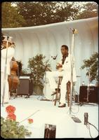 Dizzy Gillespie and George Benson perform at a jazz concert at the White House on the occasion of the 25th Anniversary of the Newport Jazz Festival, Washington, D.C., June 18, 1978