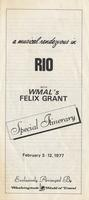 "Itinerary entitled ""A Musical Rendezvous in Rio with WMAL's Felix Grant,"" Rio de Janeiro, Brazil, February 3-12, 1977"
